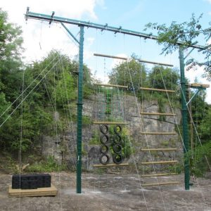 Brand new High Ropes course, Derbyshire