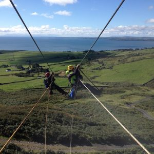 3. Laggan - Double zip line - Sept 2015