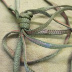 Climbing sling used to hold up a climbing element for 7 years!