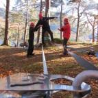 Temporary Low Ropes Fun