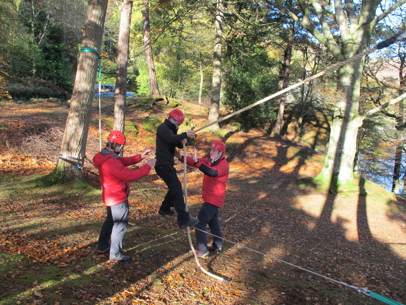Temporary Low Ropes Course In A Box