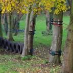 Non invasive low ropres course on trees