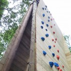 Over Hanging Climbing and Abseil Face