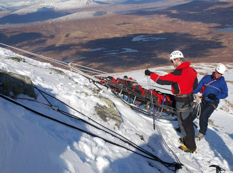 Stretcher Lower in Winter Conditions